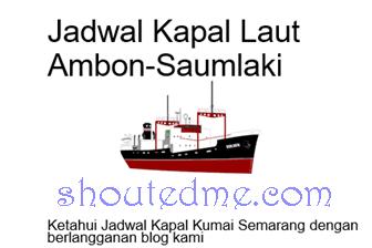 Jadwal Kapal Ambon Saumlaki Januari 2019