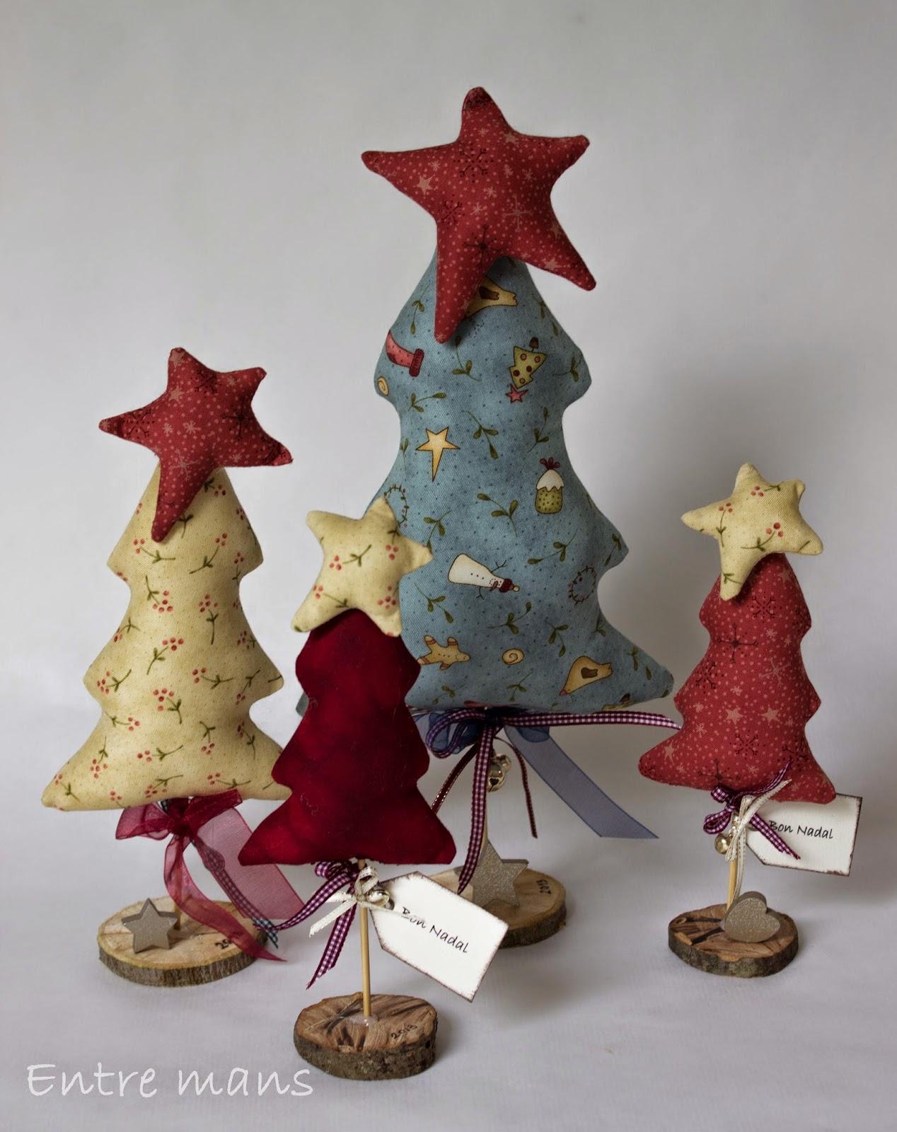 Entre mans arbol de navidad patchwork - Arbol de navidad de tela ...
