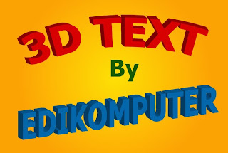 Tutorial Membuat Text 3D di Adobe Illustrator