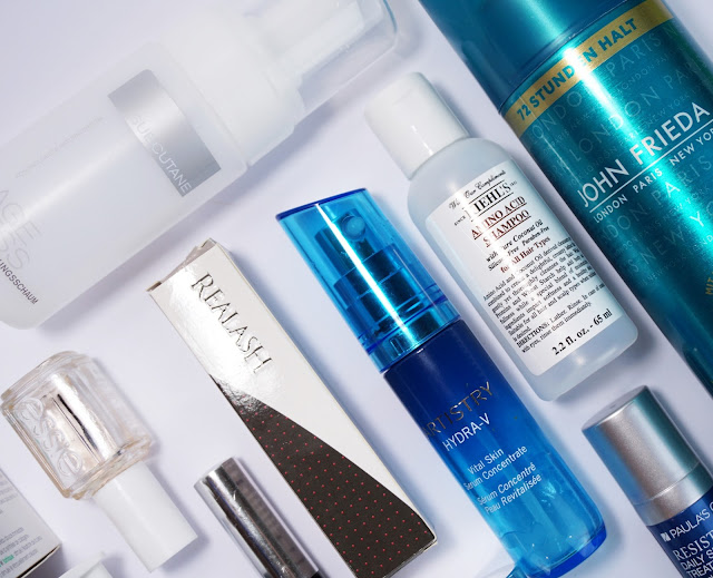 Aufgebrauchte Kosmetik (September 2016) Batiste, Judith Williams, benefit, White Lotus, Realash, John Frieda, Artistry, Kiehl's, Borotalco, Paula's Choice