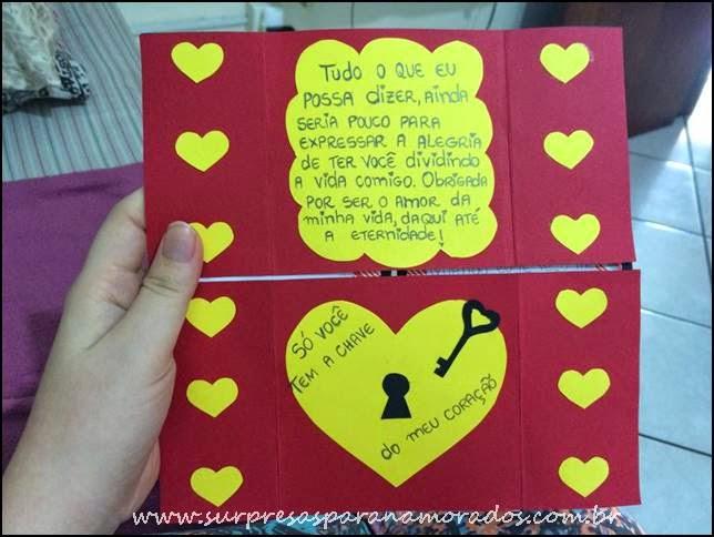 Carta Interminável Surpresas para Namorados