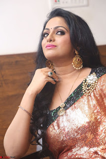 Udaya Bhanu lookssizzling in a Saree Choli at Gautam Nanda music launchi ~ Exclusive Celebrities Galleries 024.JPG