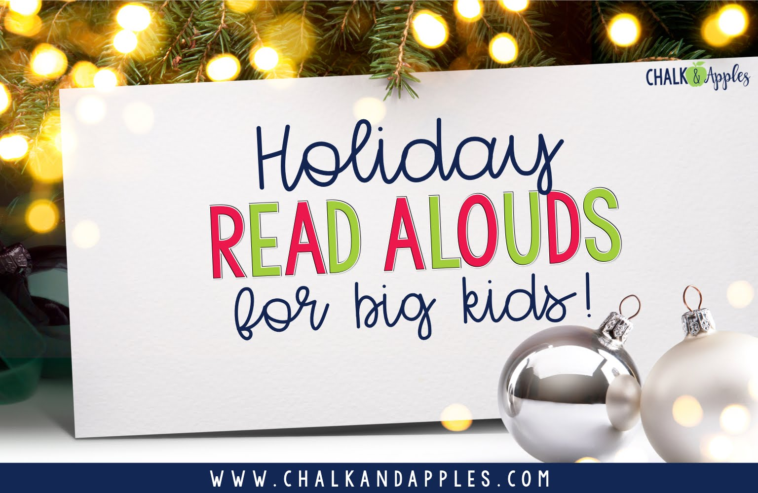 Find some new holiday books to read aloud in your upper elementary class this holiday season!