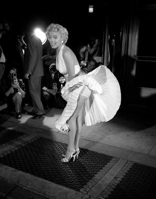 El rodaje de la escena del vestido blanco de Marilyn Monroe