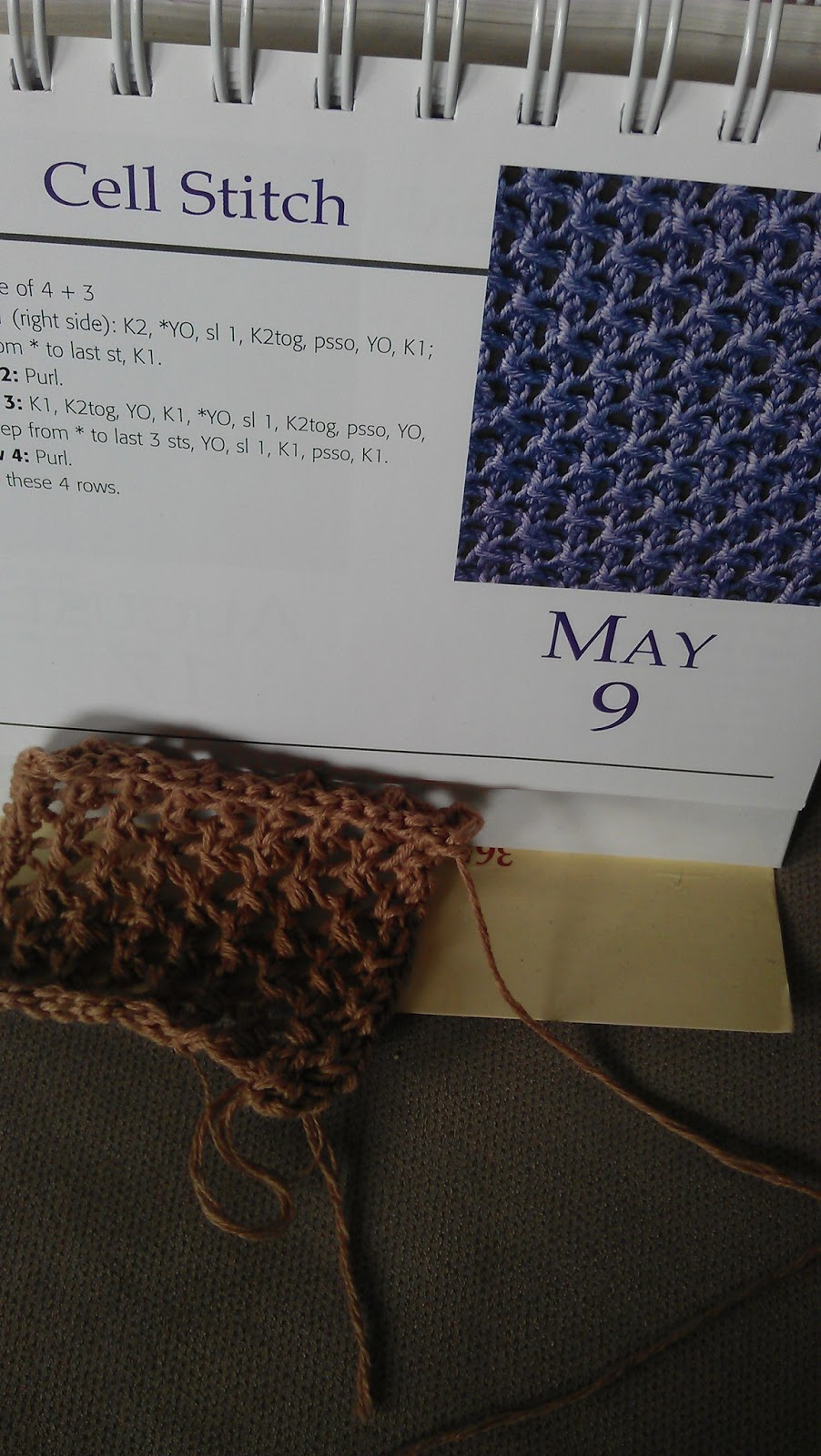 Knitting Diaries Torsdag 9 Maj Cell Stitch
