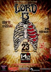 23 December : Lord 13 Live In Athens