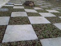 contoh kombinasi taman dan bahan matrial