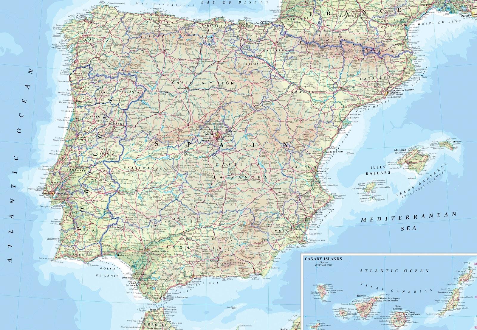 Espanha | Mapas Geográficos da Espanha