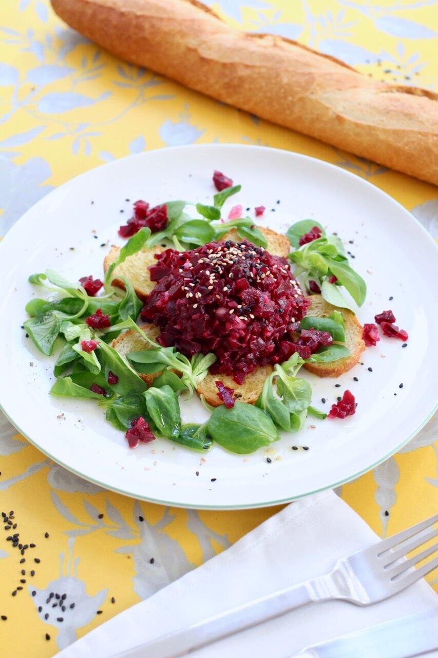 Rezept veganes Rote-Rübe-Tatar