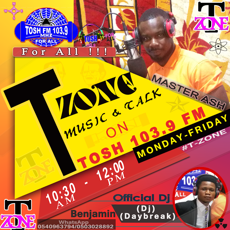 T-ZONE ON TOSH 103.9 FM