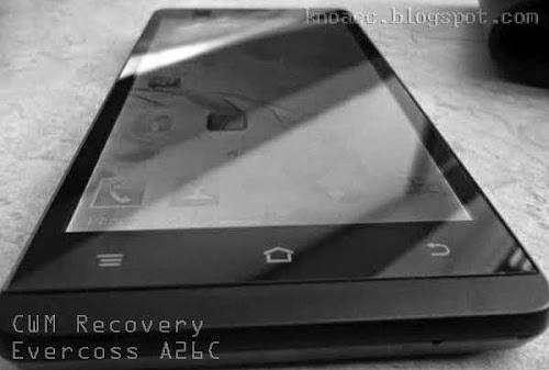 Cara Cepat Mudah Install CWM Evercross A26C Tanpa PC
