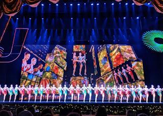 High-kicking Rockettes in a line, Radio City Music Hall, New York, New York