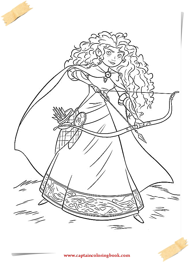 Superb Disney Brave Coloring Pages