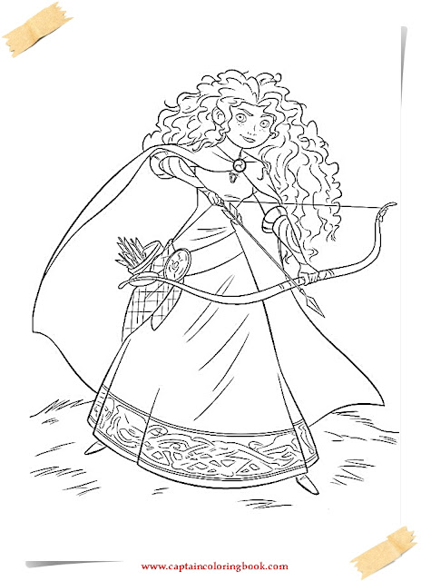Disney brave coloring pages coloring page for Brave coloring pages