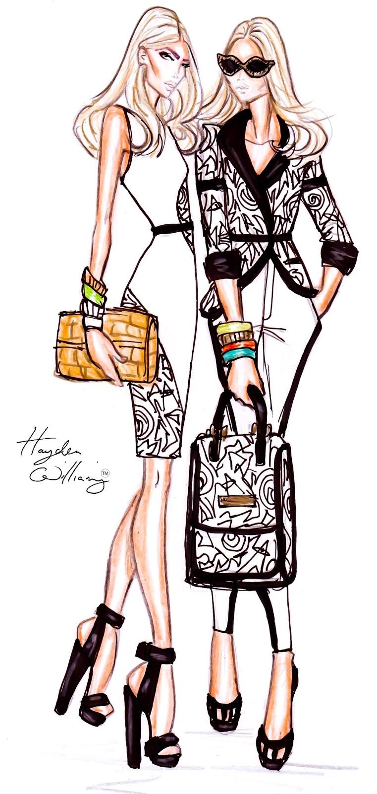 Fashion Illustration Royalty Free Stock Photo: Hayden Williams Fashion Illustrations: September 2011