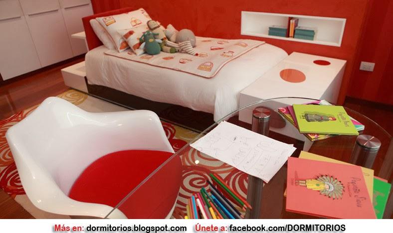 Dormitorios rojos for Dormitorio rojo y blanco