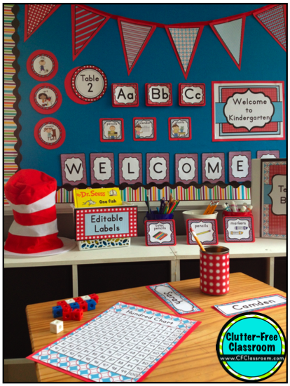 Dr Suess Theme Classroom on Dr Seuss Bulletin Board Decorations