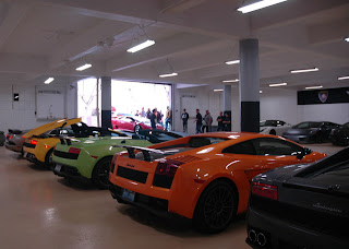 Packing a garage with Lambos