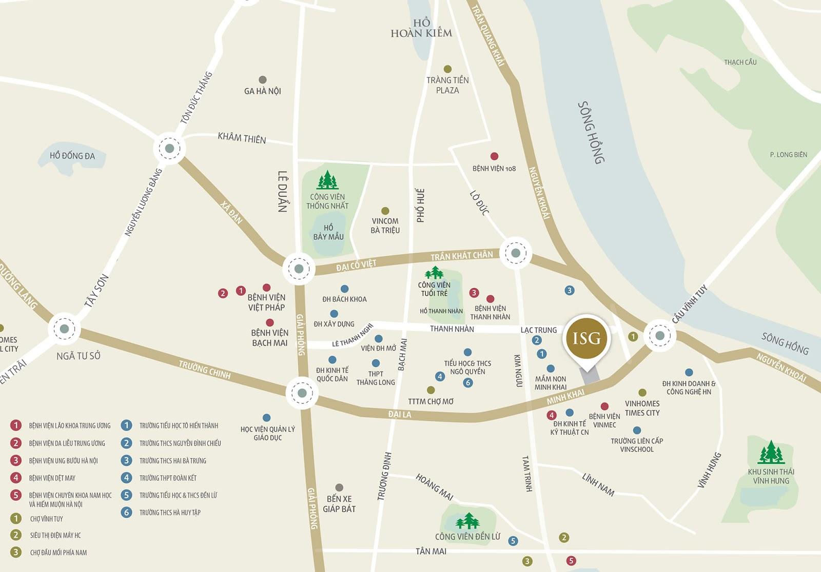 Vị trí đắc địa tại dự án chung cư Imperia Sky Garden 423 Minh Khai