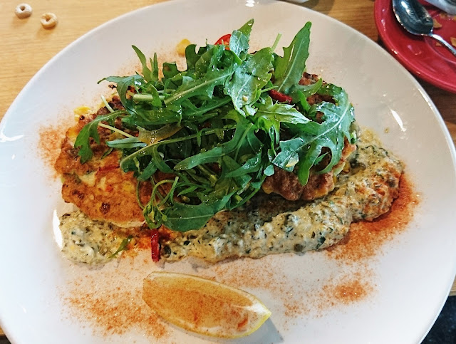 Peddler Cafe, Nunawading, crab fritters