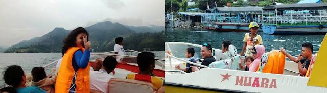 Speed Boat Danau Toba, Parapat.
