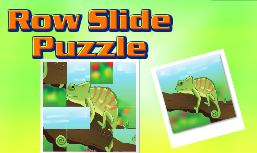 Row Slide Puzzle (Logical Thinking Puzzle Game)