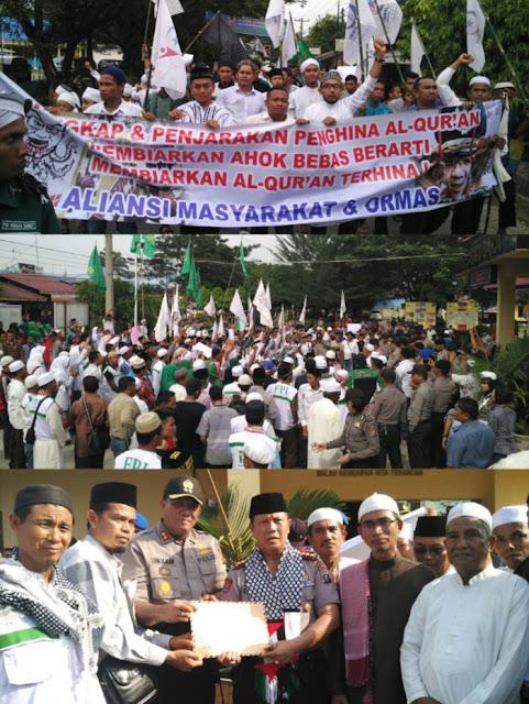 Aksi Tangkap Ahok !! Ribuan Ummat Muslim Batu Bara Seruhkan Tangkap Ahok Penista Agama