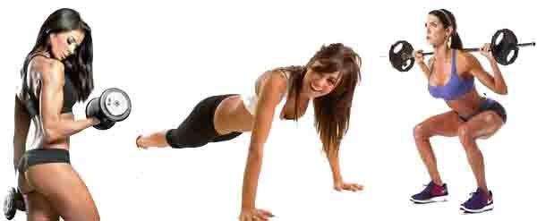 Esta rutina ejemplifica ejercicios para que las mujeres los hagan en el gimnasio