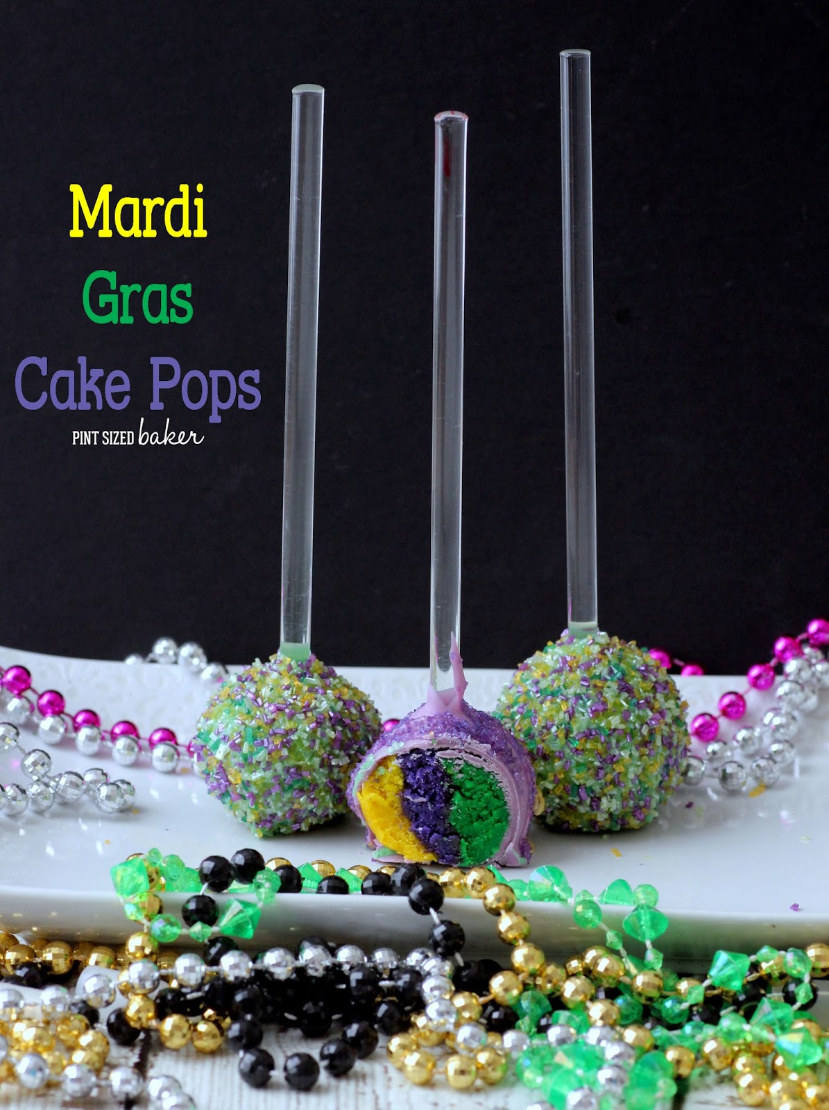 Mardi Gras Cake Pops. Tutorial on making multicolored cake pops.