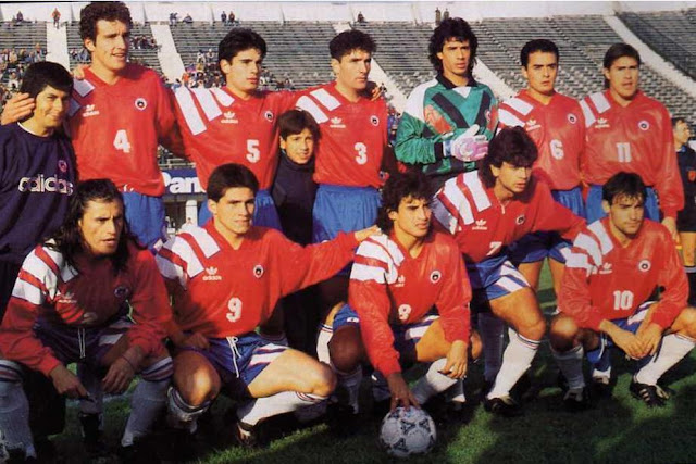 Formación de Chile ante Colombia, amistoso disputado el 30 de mayo de 1993