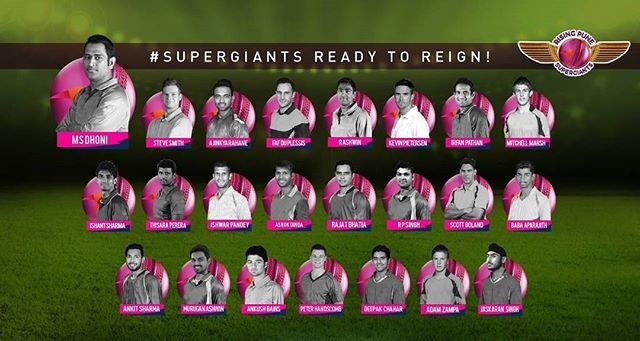 Rising Pune Supergiants (RPS) IPL 2017 Team Squad, Players, Playing XI ...