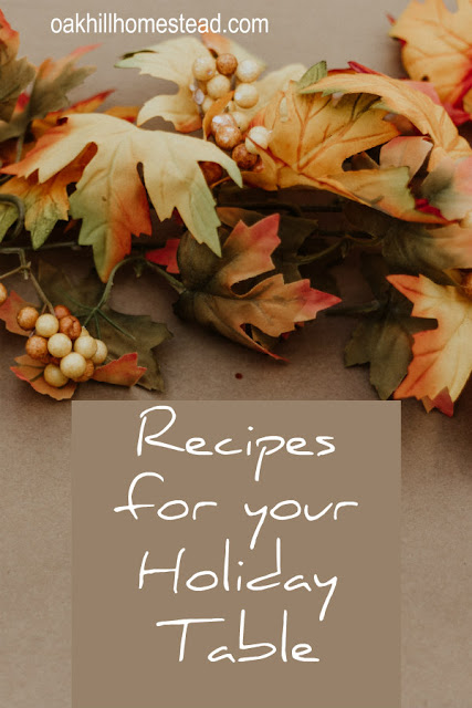 Recipes for your Thanksgiving table