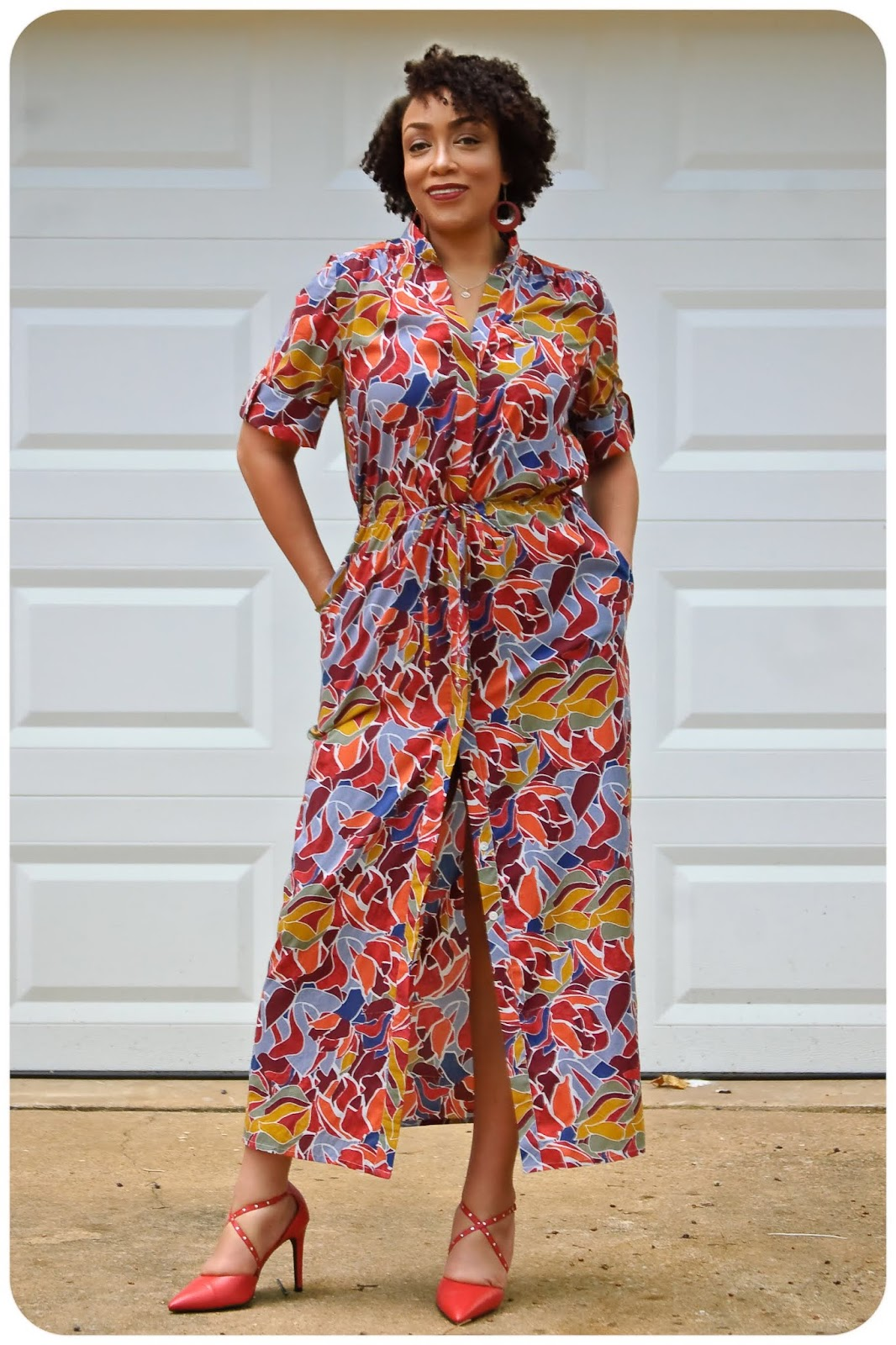 a1bb1052d57 I love a shirt dress and since I had the perfect fabric with the perfect  yardage