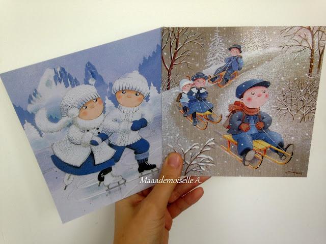 Cartes postales hiver