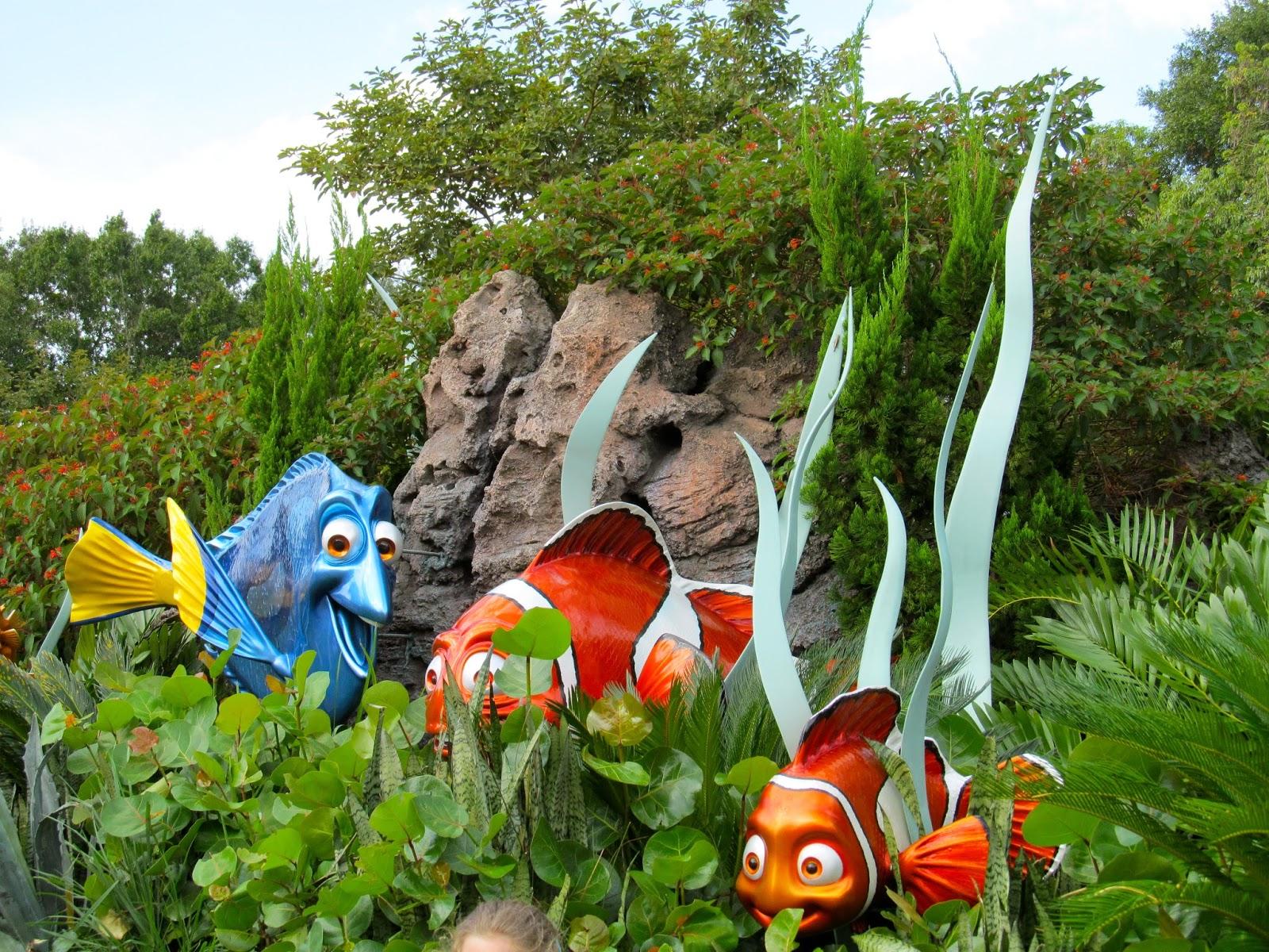 Nemo at Epcot at the Walt Disney World Resort - Orlando, FL - Ouroutdoortravels.blogspot.com