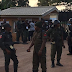 Heavy security presence at INEC Headquarters. Materials are being awaited for collation to begin