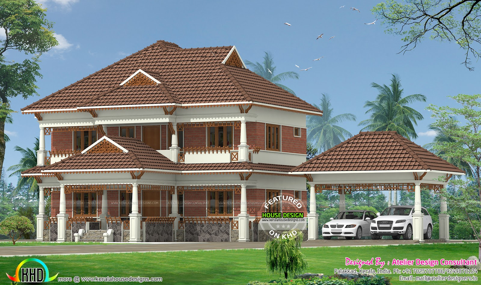 Traditional model kerala home kerala home design and for Traditional house plans in kerala