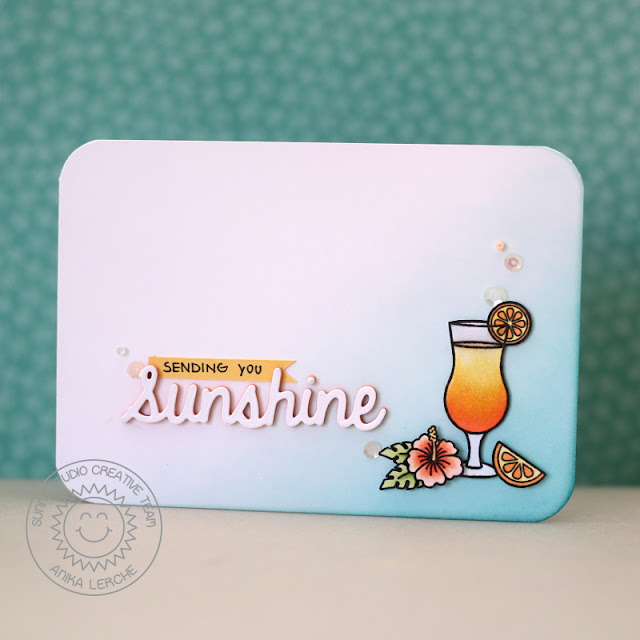 Sunny Studio Stamps: Tropical Paradise Sending You Sunshine Card by Anni Lerche.