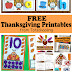 Free Thanksgiving Printables for Kids