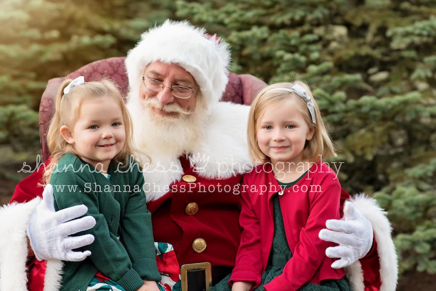 eugene oregon child photographer santa christmas mini sessions