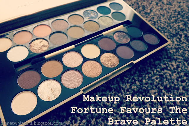 Product Review- Makeup Revolution Fortune Favours The Brave Palette