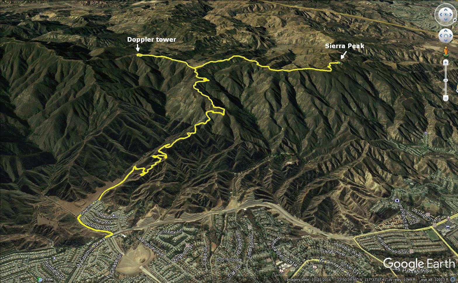 Iron Hiker Sierra Peak Via Skyline Drive
