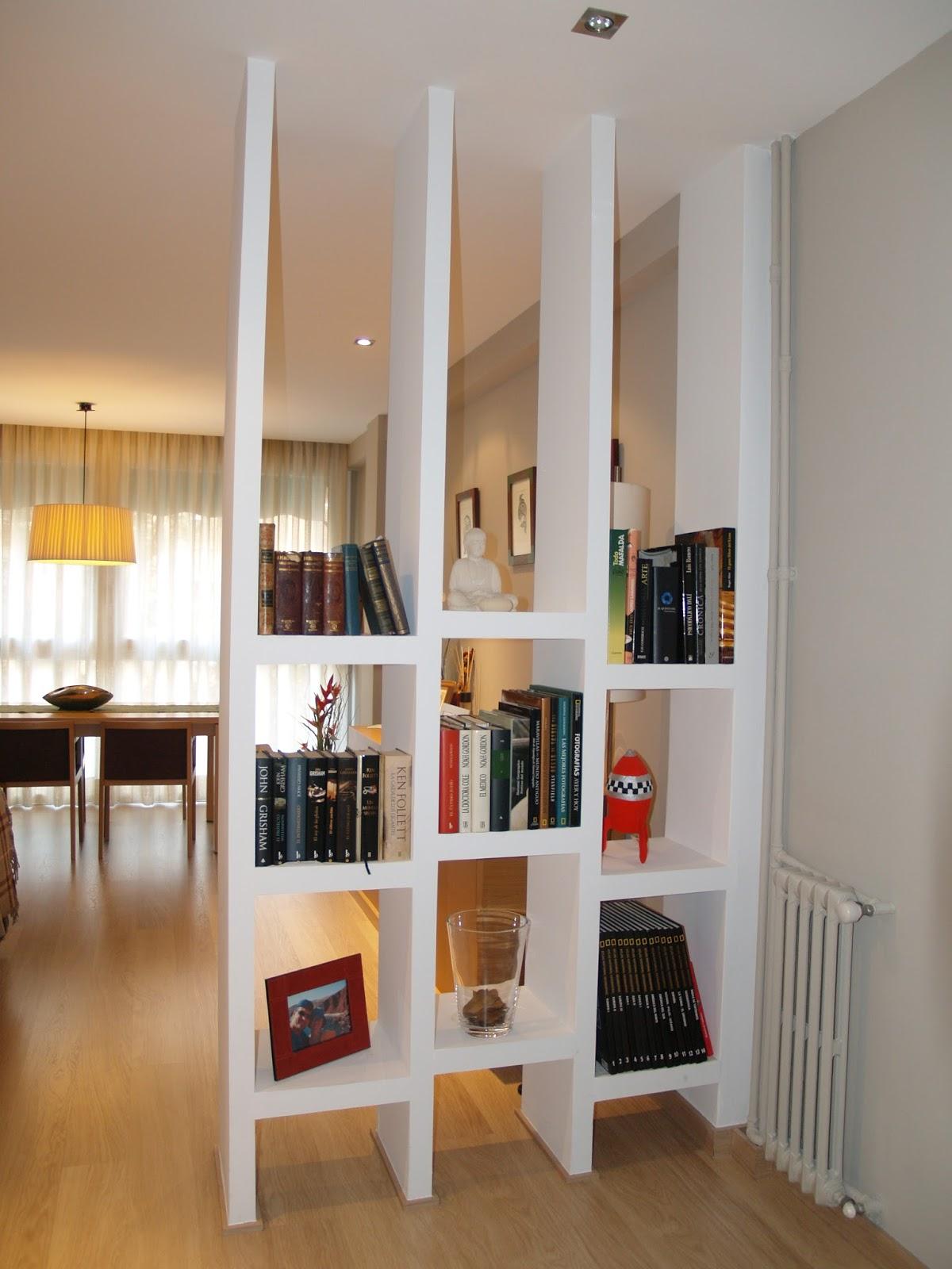 Por qu elegir muebles de durlock revista tendenciadeco - Estanterias separadoras de ambientes ...