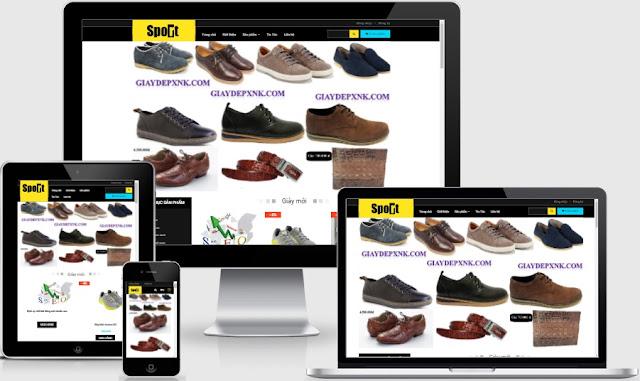Templates blogspot bán hàng giày xinh