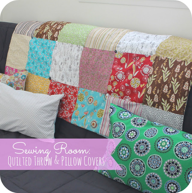 Sew Chatty Sewing Room Update Quilted Throw Amp Pillow