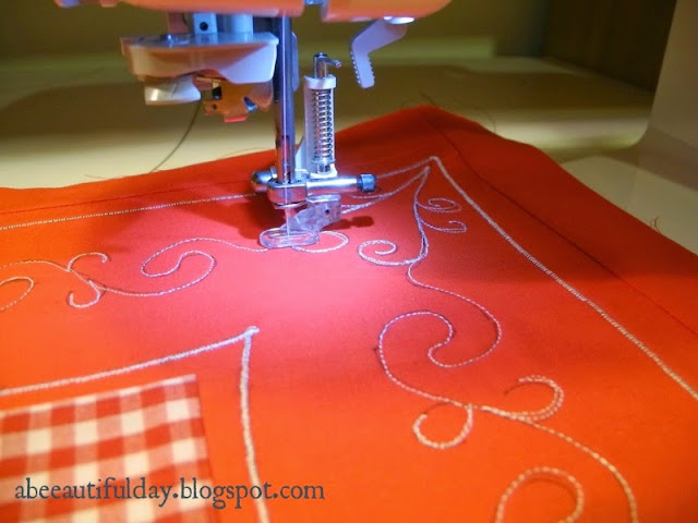 Valentine Embroidered Patchwork Pillow-Tutorial-abeeautifulday.blogspot.com