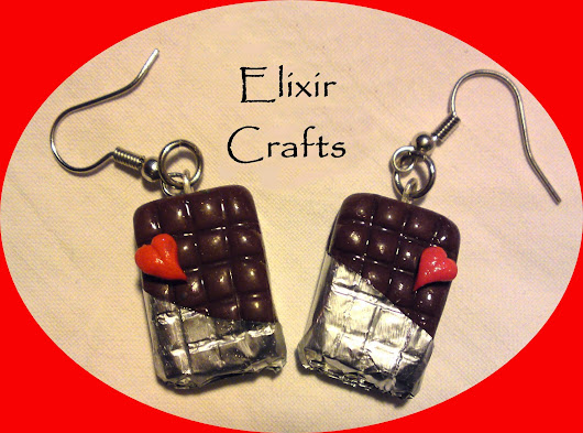 Miniature Chocolate Earrings / Polymer Clay Earrings / Milk Chocolate Bar Earrings / Clay Cute Dangly Jewellery Sweets / Gift / SALE