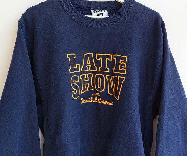 Late Show with David Lettermanヴィンテージスウェット