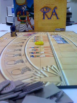 Ra board game in play