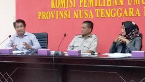 KPU NTB Gelar Rakor Penataan Dapil dan Alokasi Kursi Legislatif Pileg 2019